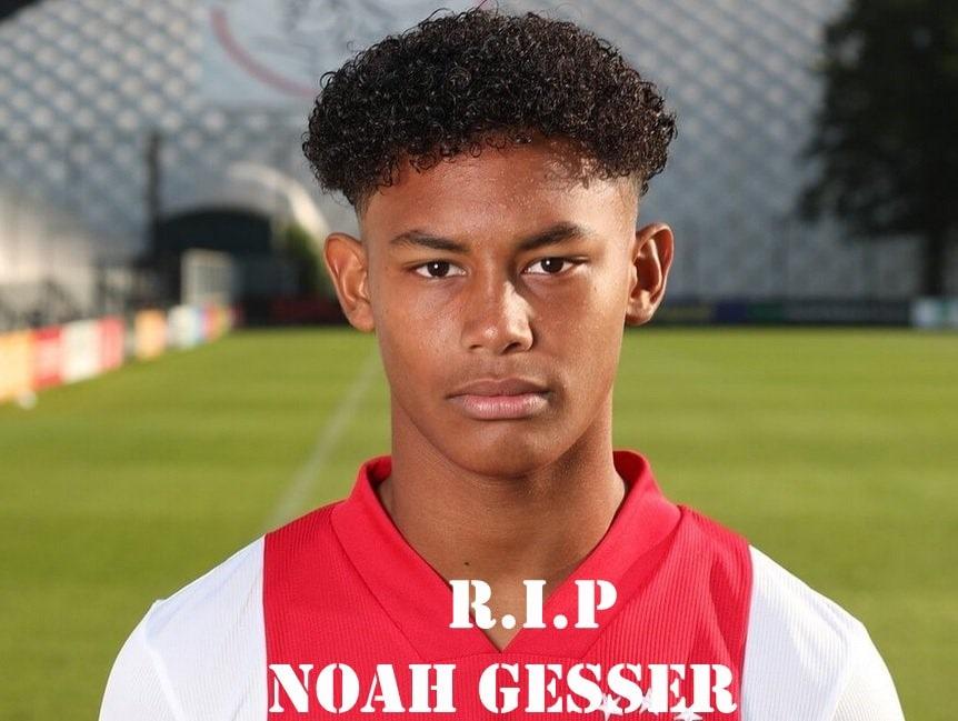 Pemain Ajax Noah Gesser Meninggal